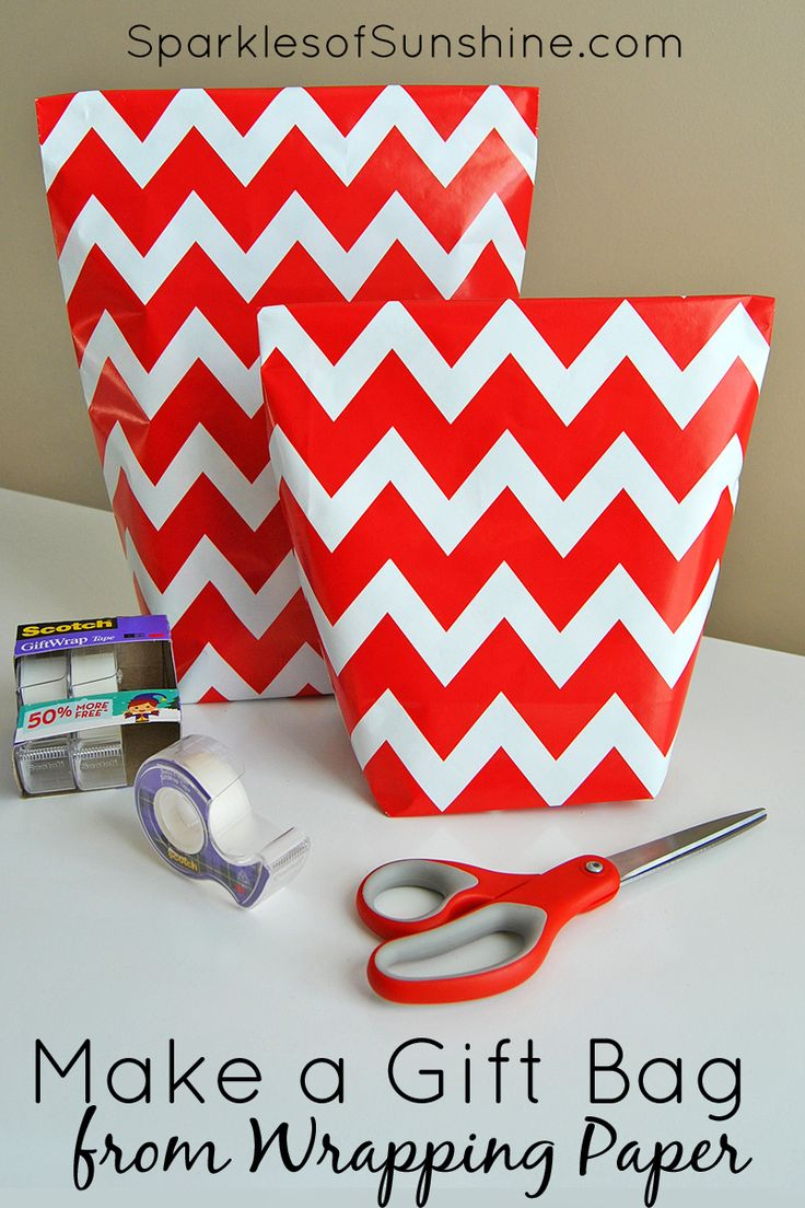 how to make a gift bag from wrapping paper in 5 simple steps sunshine. Black Bedroom Furniture Sets. Home Design Ideas