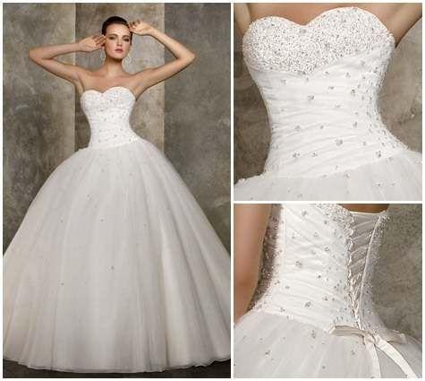 Blanco, vestido 15 años, corte campana, corsett, me encanta.. | Xv ...