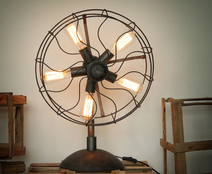 Superb Westing Fan: A Classic Table Fan, Remodeled Into An Industrial Lighting  Fixture. Coupled