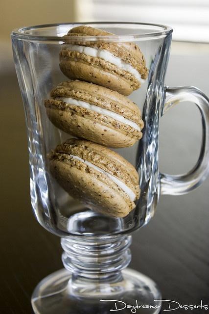 Irish Coffee Macarons [goes great with an Irish Coffee]