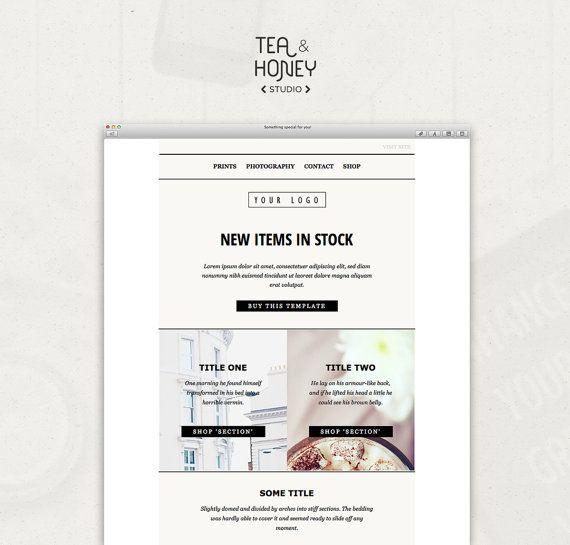 Mailchimp Email Template Sales Responsive by TeaAndHoneyStudio