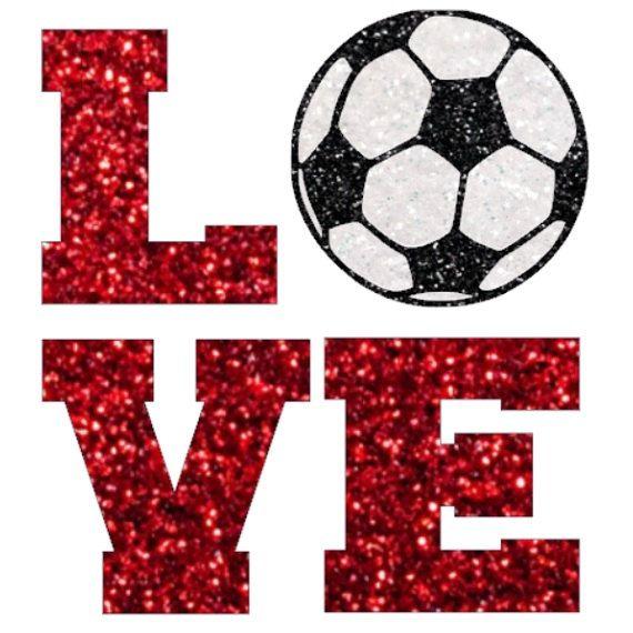 Glitter voetbal liefde ijzer op, voetbal moeder voetbal liefde ijzer op overdracht, DIY voetbal shirt, ik hou van voetbal, warmteoverdracht