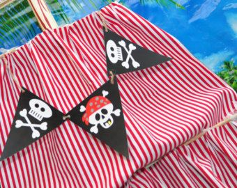 INSTANT DOWNLOAD Printable Pirate Pennant Set