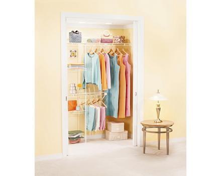 Rubbermaid Direct Mount Epoxy Coated Closet Kit 3 5 Ft