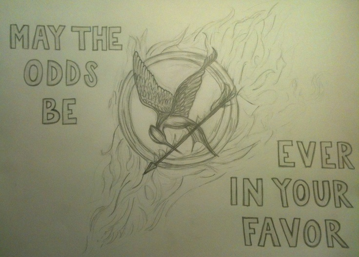how to draw hunger games