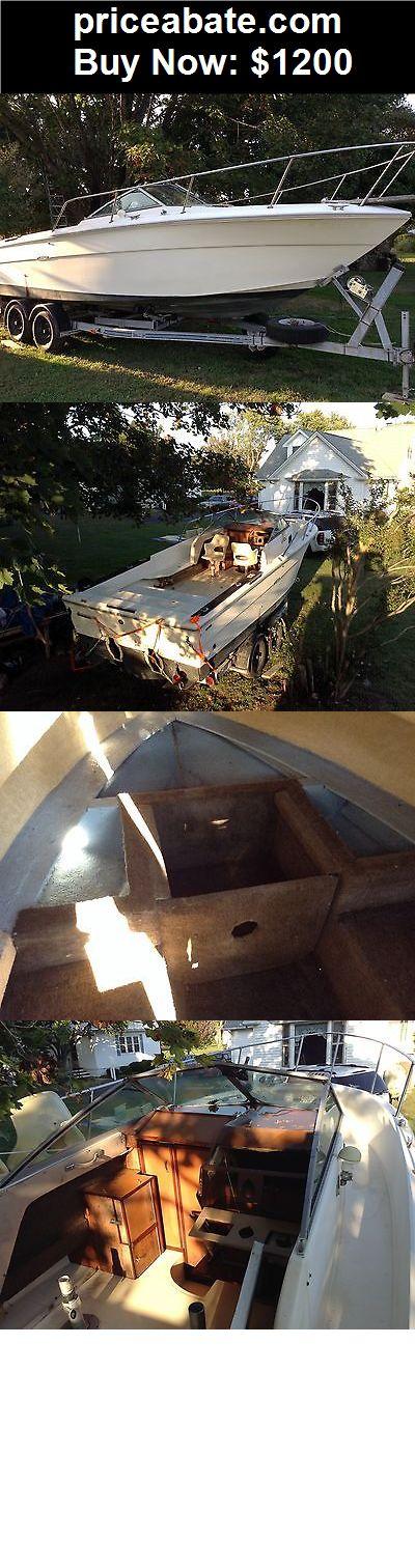 Boats: 1984 Sea Ray SRV 245 Fisherman walk around cuddy cabin boat - BUY IT NOW ONLY $1200