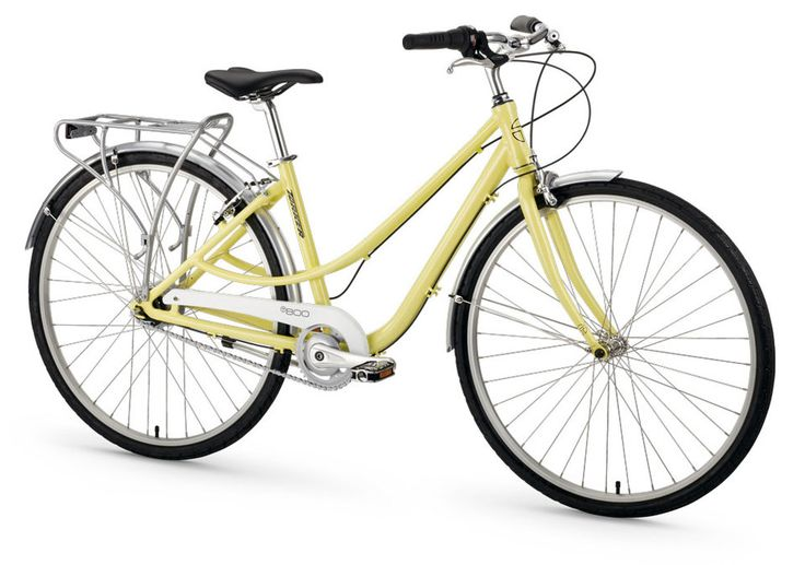 """The T800 by Torker Bicycles is a commuter with simple style and a low-maintenance Shimano Nexus  8 speed hub. Call it """"mellow yellow."""""""
