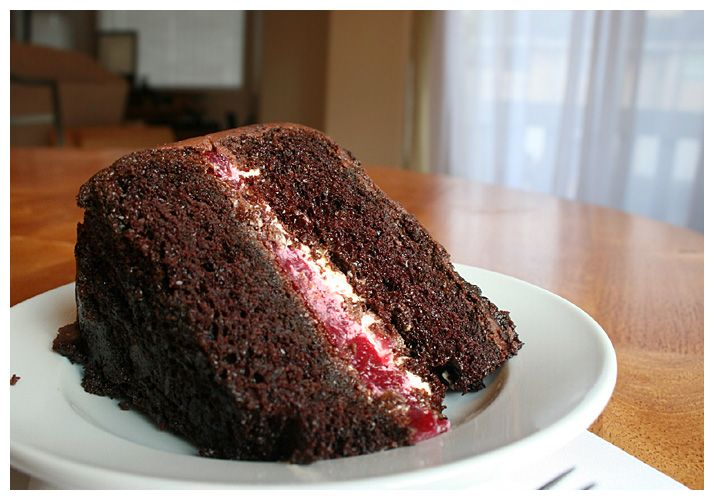 chocolate+cake+with+raspberry+filling | BEATTY'S CHOCOLATE CAKE WITH RASPBERRY FILLING