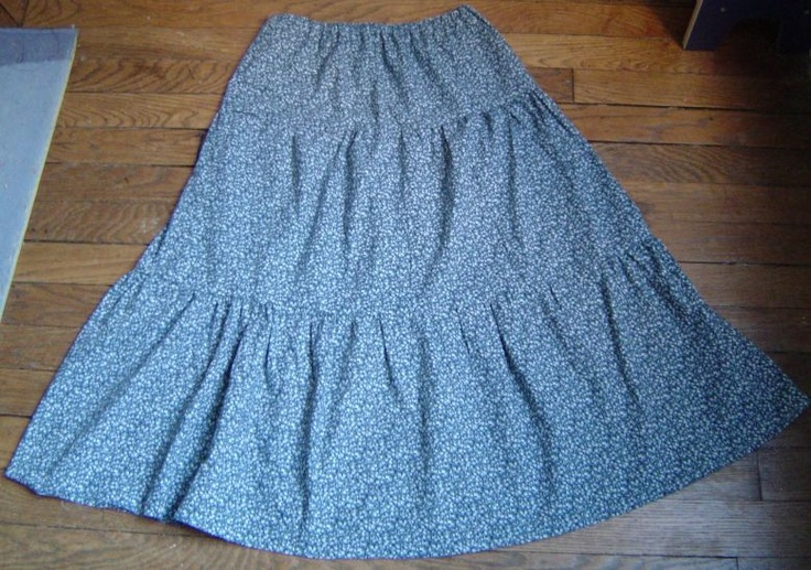 Tiered or Flounced Skirt Pattern and Tutorial