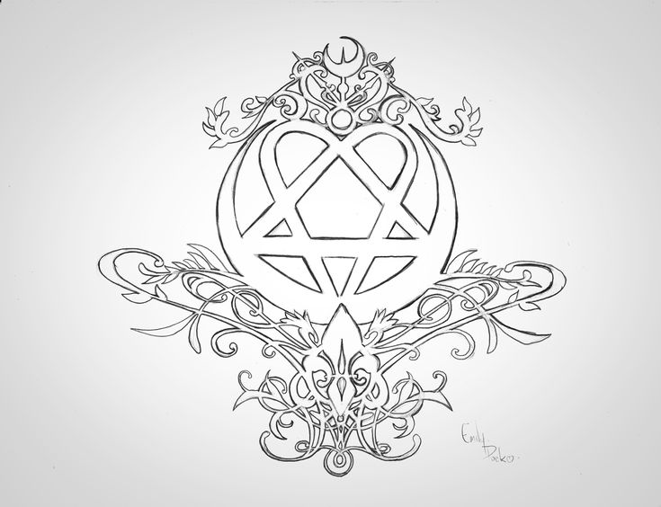 Heartagram tattoo idea by packness.deviantart.com on @deviantART