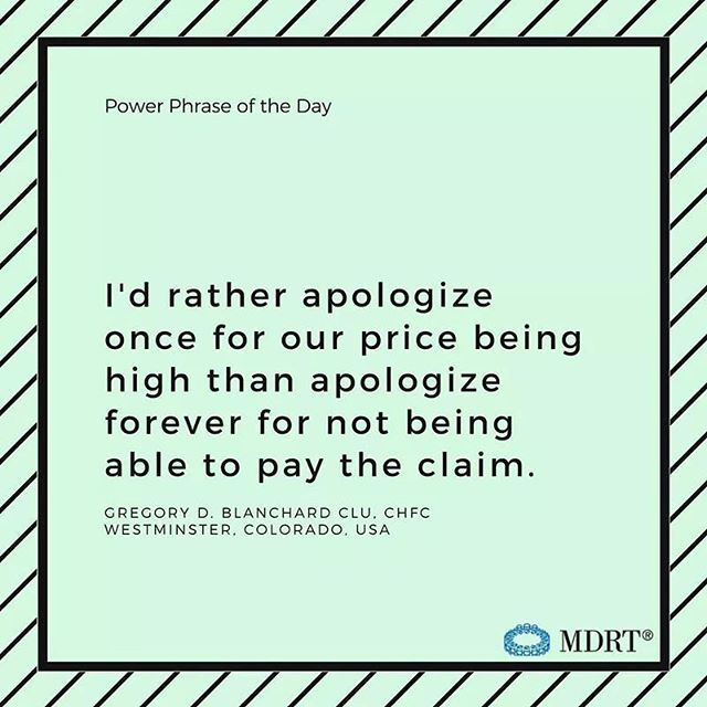 I D Rather Apologize Once For Our Price Being High Than Apologize