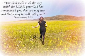 Jeremiah 7:23 ~ Walk in obedience to all I command you, that it may go well with you.
