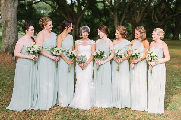 minty sage bridesmaid dresses | Paige Reaux #wedding