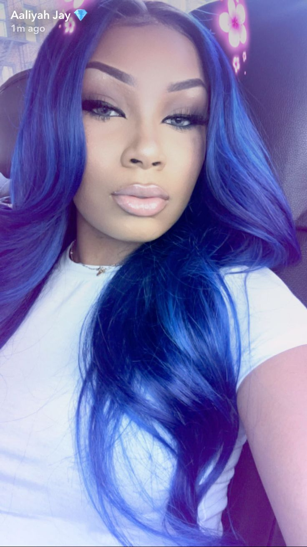 blue weave hair ideas