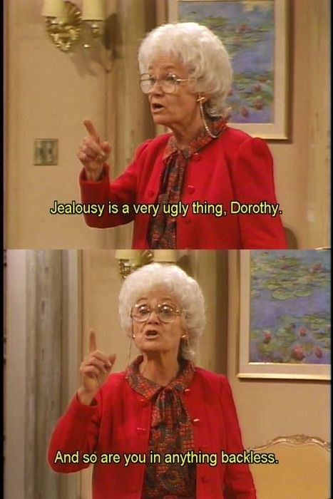 """When Sophia gave some good advice — served with a LARGE side of shade: 
