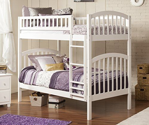 kids white bunk bed twin over twin convertible beds wood furniture bedroom safe
