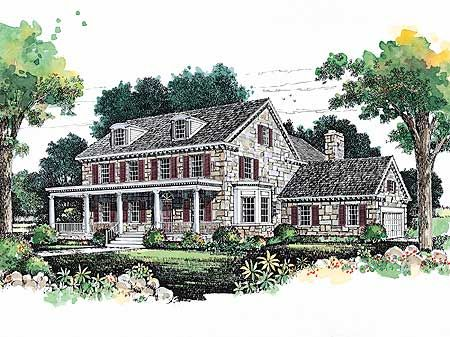 Lovely Stone Farmhouse - 81256W | 2nd Floor Master Suite, Butler Walk-in Pantry, Corner Lot, Country, Den-Office-Library-Study, Farmhouse, PDF | Architectural Designs