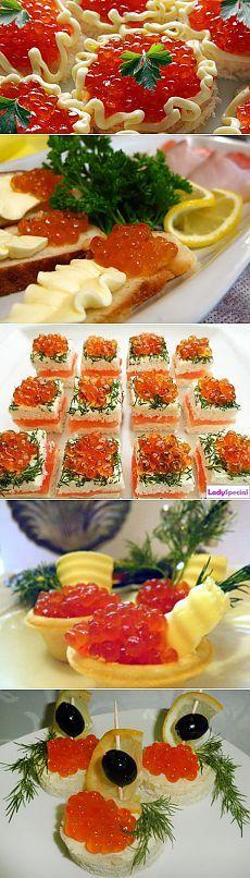 Классические закуски: делаем и оформляем бутерброды с красной икрой / Простые рецепты