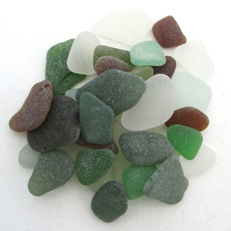 English beach glass, Cornish sea glass, Surf tumbled glass, eco craft supply, jewelry making supplies, 30 frosted pieces, jewelry quality by BlueBoxStudio on Etsy