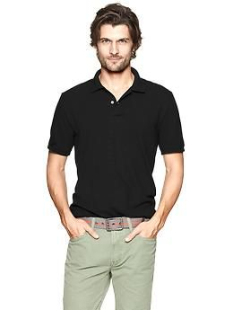 Modern pique polo - The modern polo has a smart new fit with a modern placket, tailored silhouette, and supremely soft fabric. Got in tall for $19 ish after discount.