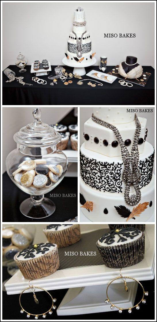 Black & White Hollywood Glamour Cake