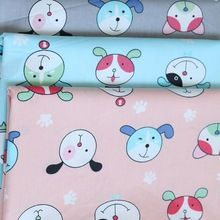 100*160 cm 100% de sarga de algodón 3 colores lindo perro de dibujos animados de tela para diy ropa vestido del cabrito de cama textil trabajo hecho a mano de tela patchwork(China (Mainland))