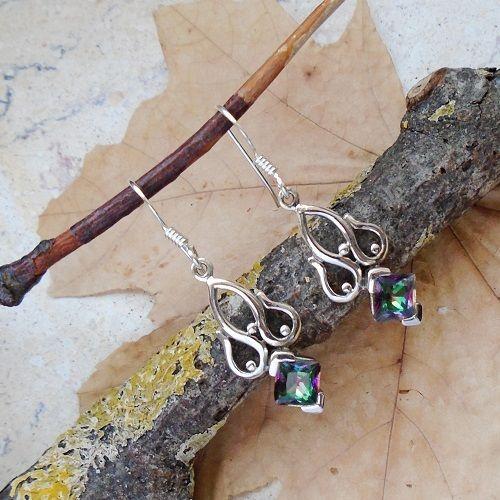 Mystic Topas, Ohrringe, Ohrhänger, 925 Sterling Silber in Uhren & Schmuck, Echtschmuck, Ohrschmuck   eBay