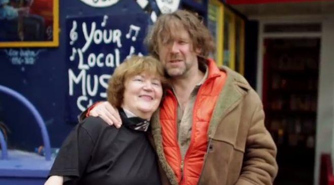 Liam Ó Maonlaí outside Dingle Record Shop. www.dinglerecordshop.com
