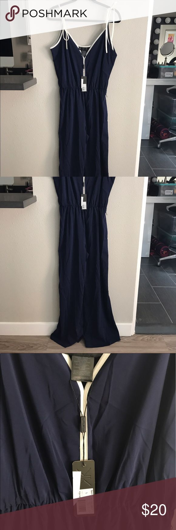 Kardashian Kollection jumpsuit New with tag!! Kardashian kollection jumpsuit.navy blue Kardashian Kollection Pants Jumpsuits & Rompers