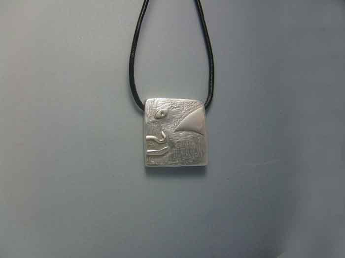 mayan kin seal human heb sterling silver 925 pendant charm zodiac necklace sello maya kin humano colgante zodiacal maya plata de ley by Algaba on Etsy