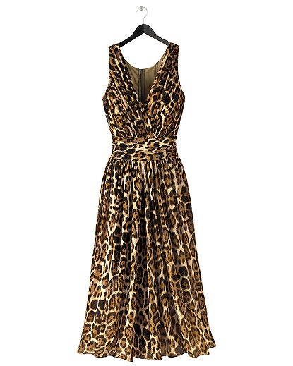The Natural Luxe Collection: Leopard-Print Silk Dress