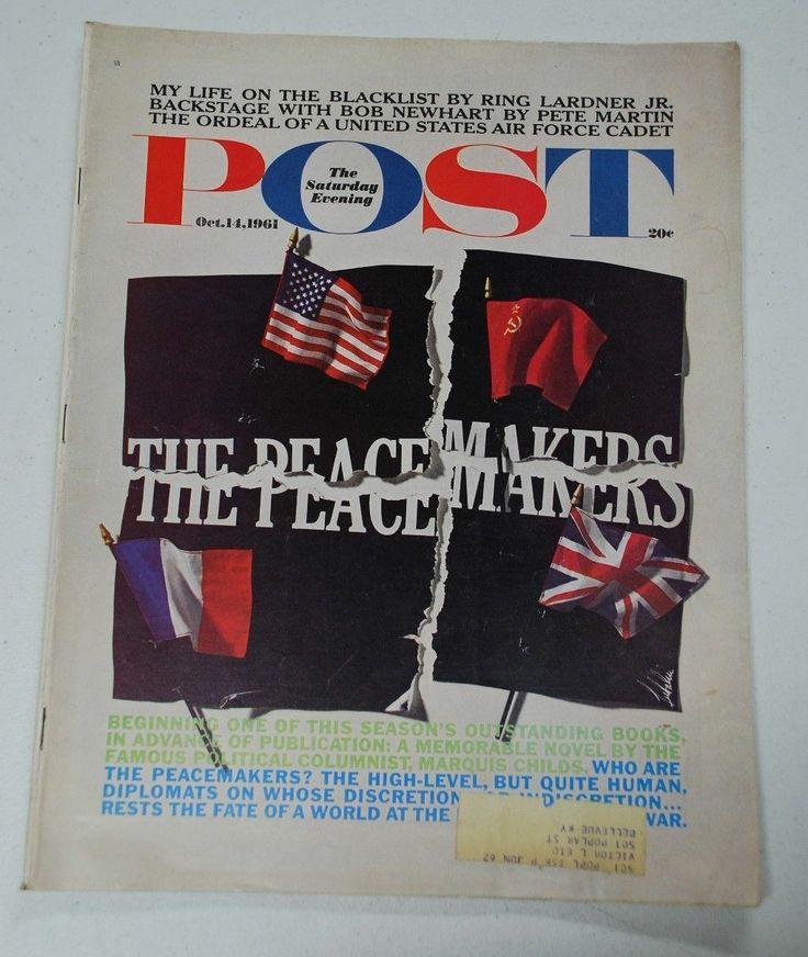 Saturday Evening Post October 14 1961 Herb Lubalin | eBay
