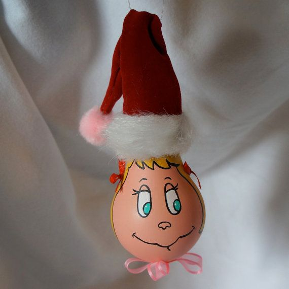 Cindy Lou Who Light Bulb Ornament by JessicalynnBrice on Etsy $8