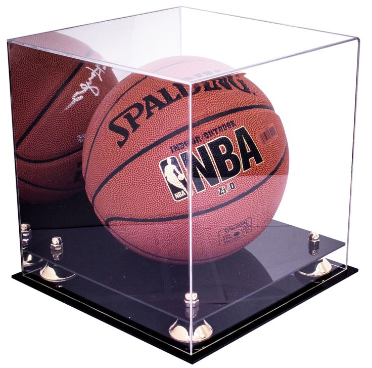 Basketball Display Case With Mirror For NBA, NCAA, and ...