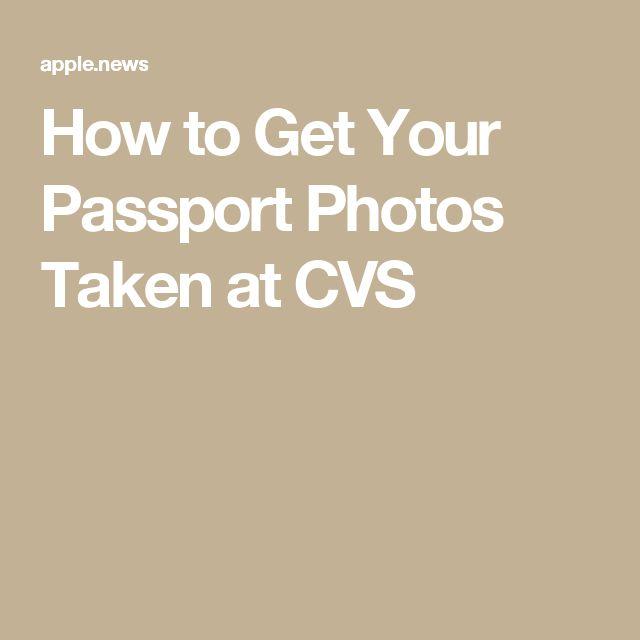 How to Get Your Passport Photos Taken at CVS
