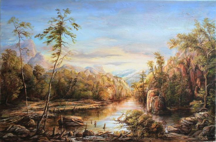 Landscape3. Tablou de Dan Scurtu