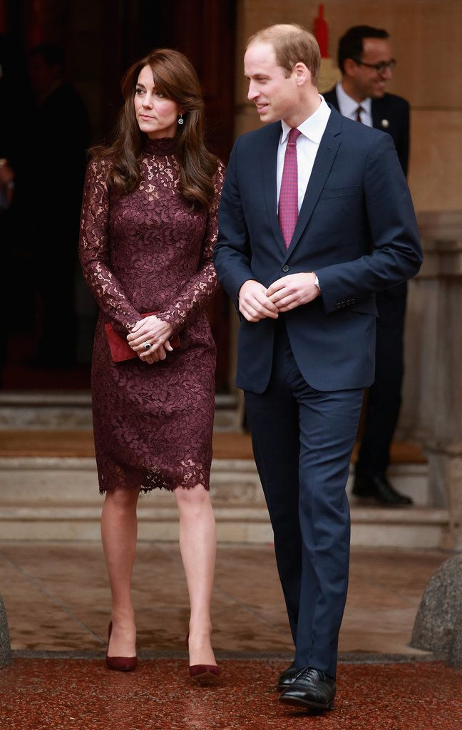Kate Middleton Wearing Purple Lace Dress | POPSUGAR Fashion#photo-38835886#photo-38835886
