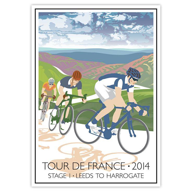 Poster of Stage 1 Tour de France 2014, Leeds to Harrogate