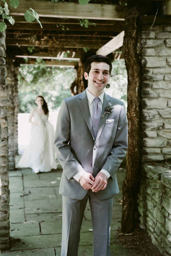 Enchanting Jewish Wedding in Cleveland, Ohio / bride wearing gorgeous Leanne Marshall gown from Something White, A Bridal Boutique, Independence Ohio / photo by Suzuran Photography