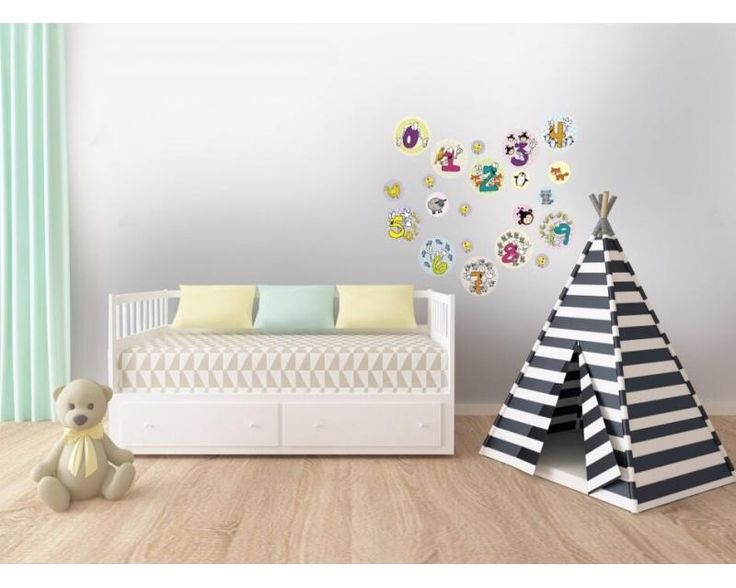 Hravé čísla ako nálepky na stenu do detskej izby | DIMEX