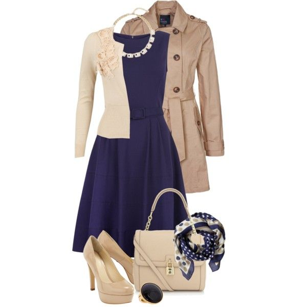 A fashion look from April 2013 featuring Jigsaw dresses, Vero Moda cardigans and even&odd coats. Browse and shop related looks.