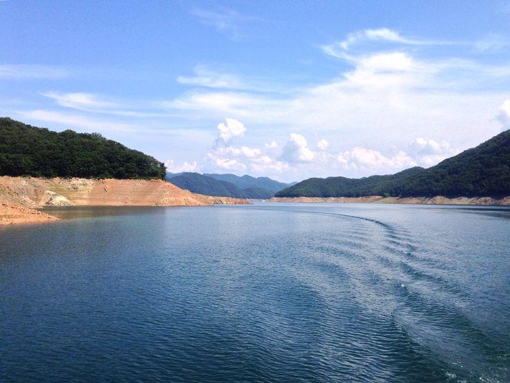 Soyang River near Soyang Dam at Chuncheon, South Korea