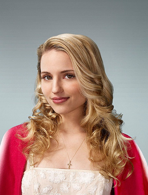 Quinn Fabray--Dianna Agron--Glee. Not a bad shot at all.