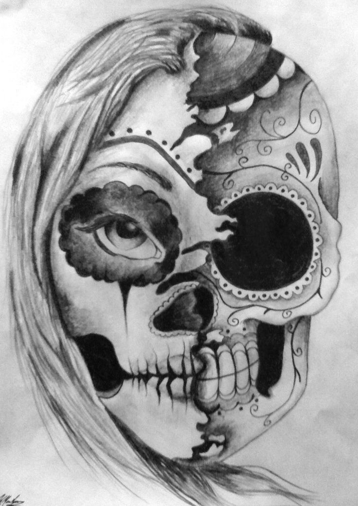 SUGAR SKULL TATTOO - Google Search | Como desenhar crânios