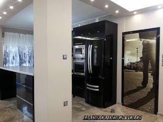 ΔΙΑΚΟΣΜΗΤΡΙΑ ΛΙΑΤΣΙΚΟΥ ΜΑΡΙΑ LIATSIKOU DESIGN: Modern black kitchen modern glass digital   indoor...