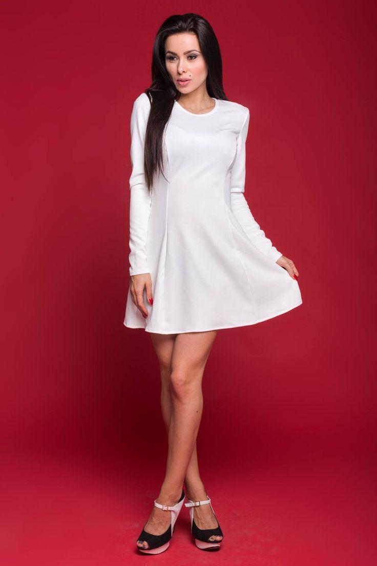 Sukienka MOU Kolory: ecru, pudrowy roz www.poqash.pl