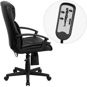 Office Massage Chair High Back Executive Leather Computer Desk Swivel Black