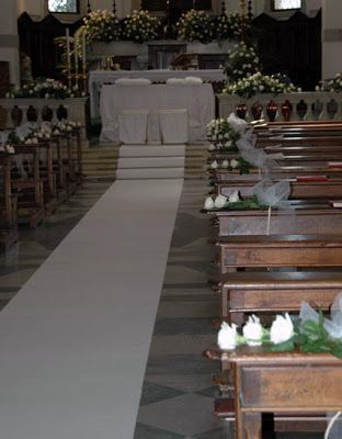 FIORI A MODO MIO: MATRIMONIO: CORSIA DI MOQUETTE
