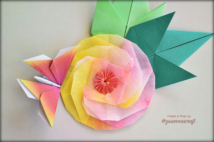 Peony Designer?  Folded by Zusanna's Craft