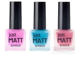 Divage Make Up Just Matt Nail Polish Матовый лак для ногтей